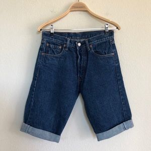 Levis 501 90's High Waist Button Fly Jean Shorts